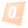 Perie rotundă negru-portocalie
