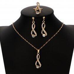 Set de bijuterii cu pietre transparente